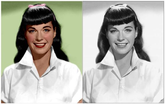 Bettie Page Colorization by MrExcite