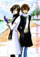 Lelouch and Suzaku by Alkanet
