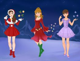 Christmas Fairies 1 by WaterLily-Gems