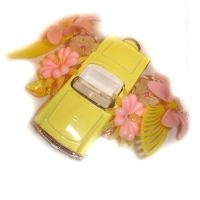 Car Collage Pendant by AndyGlamasaurus
