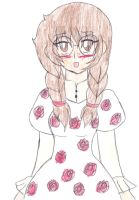 Glasses and Roses -Colored- by Chicken-Yuki