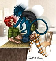 Kurt is attacking color by Dralea