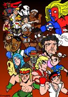 Street Fighter Third strike roster by xXZoltcrusherXx