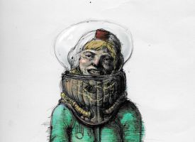 astronaut sketch by ropeliker