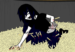me in saw needle pit trap by moonstar4444