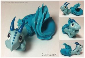 Capricorn Dragon (twelfth of 12 in series) by lizzarddesigns