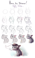How to Draw!: Ugly kitten. by xepxyu
