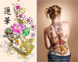 Oriental Bodypaint Backpiece by Battledress