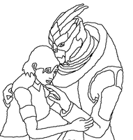 Turian And Human Base Cute Moment by Natalia-Clark