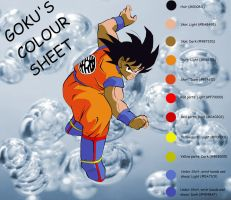 Goku's colour pallet by eggmanrules