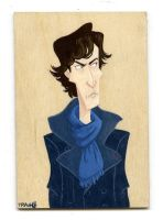 BBC Sherlock warm up painting by TRAVALE