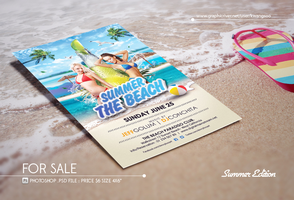 Summer Beach Photoshop Psd Flyer Template by dennybusyet