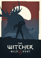 Poster - The Witcher 3: Wild Hunt by Maifou