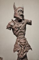 Zombie Warrior Bust 1 Sculpture (missing arms) by AntWatkins