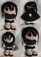 Commission Mini Plushie Izuna Uchiha by LadyoftheSeireitei
