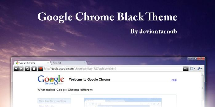 Google Chrome Black Theme by deviantarnab