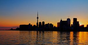 Toronto silhouette by swiminto