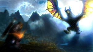 Skyrim : Dragon Attack by UltimaDX