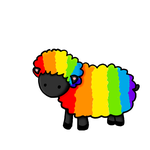 Rainbow Sheep by Songfyre