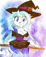 Sketch Commission - Sexy n Blue Witch by MimiMarieT