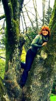 Rachel in a tree by skipsmagee