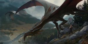 I saw a dragon by SergeyDemidov