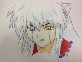 InuYasha's Tears -- Coloured~ by CrystalizedBlood