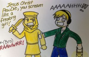 Stephano and PewDiePie :D by Alivoir