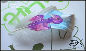 Feather Painting: Dragon by Delinlea