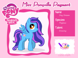 Miss Ponyville Pageant: Application by xXCystalTheWolfXx