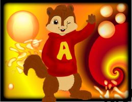 Alvin says HELLO by Azn-Chipmunk