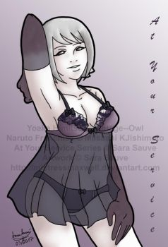 Art Trade #2 with V--O - Himitsu, At Your Service by mistressmaxwell