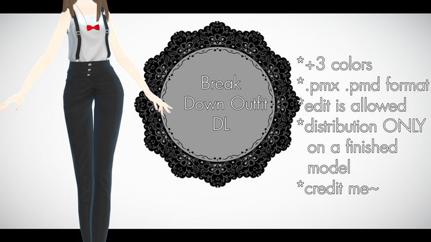 |MMD| Break Down Outfit Download by Dastezi