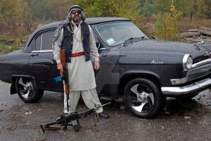Mujahid and old tuned Volga by grafnull