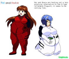 Rei and Asuka by G-Nibbles