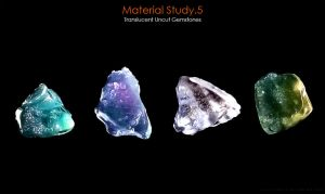 Material Study.5 [Translucent Uncut Gemstones] by SaxonSurokov