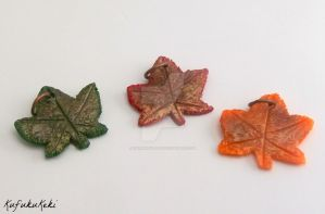 Autumn Leaf Charms by Rhiannon-San
