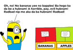 Stuart's Worst Apples and Bananas Nightmare! by MichaelSquishyEddy89