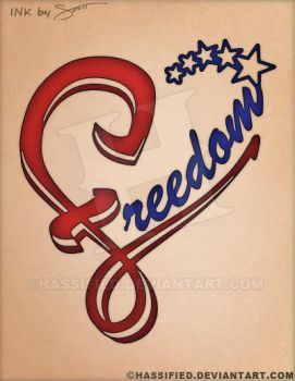Freedom Heart Tattoo by hassified