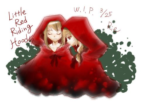 Little red riding hoods w.i.p. by rriee