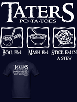 Lord of the Rings Taters T Shirt by Enlightenup23