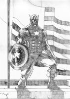 Captain America - Pencil by NaGaSaNe