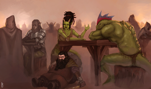 Chill in the tavern by ArtDeepMind