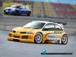 ING-Renault Megane GTR F1 by CapiDesign