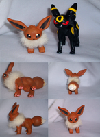 Clay Eevee by VengefulSpirits