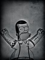 Skinhead Homer by cinges