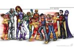 Teen Titans by AdamWithers