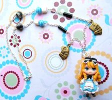 Handmade Alice in wonderland clay necklace by SimonaZ
