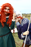 We're just playing around : Merida and Jack by infectedsouls