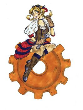 Steampunk Pinup by candiedfool